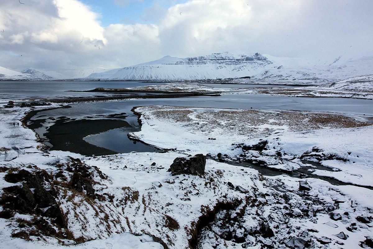 Zdjęcia: Grundarfjordur,  Półwysep Snæfellsnes, Widok z Kirkjufellsfoss, ISLANDIA