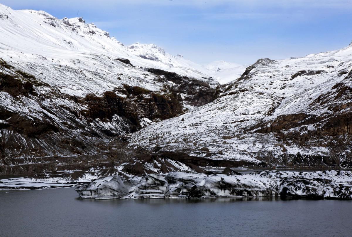 Zdjęcia: Okolice wulkanu Katla, Południowe wybrzeże, Pod lodowcem Mýrdalsjökull , ISLANDIA
