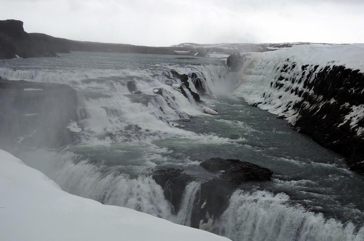 Zdjęcia: Hvita, Rzeka Hvítá , Wodospad Gullfoss, ISLANDIA