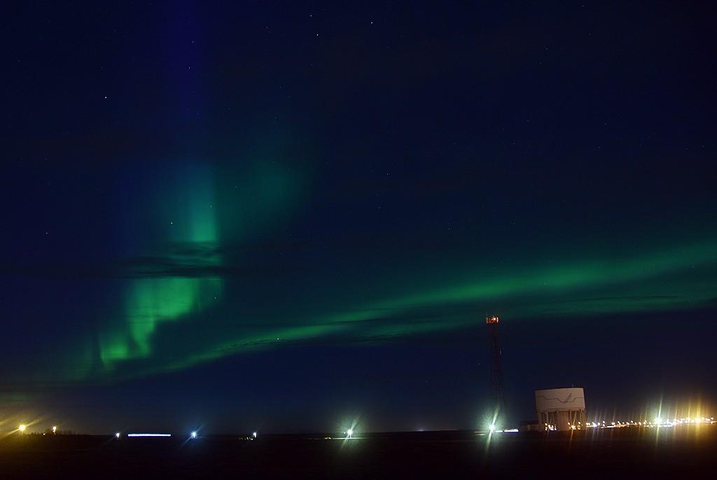 Zdjęcia: Keflavik, Keflavik, Zorza Polarna w Kevlaviku, ISLANDIA
