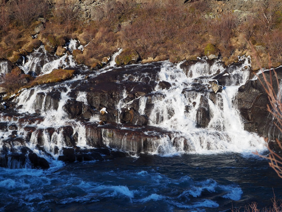 Zdjęcia: okolice Husafell, zachodnia Islandia, Hraunfossar, ISLANDIA