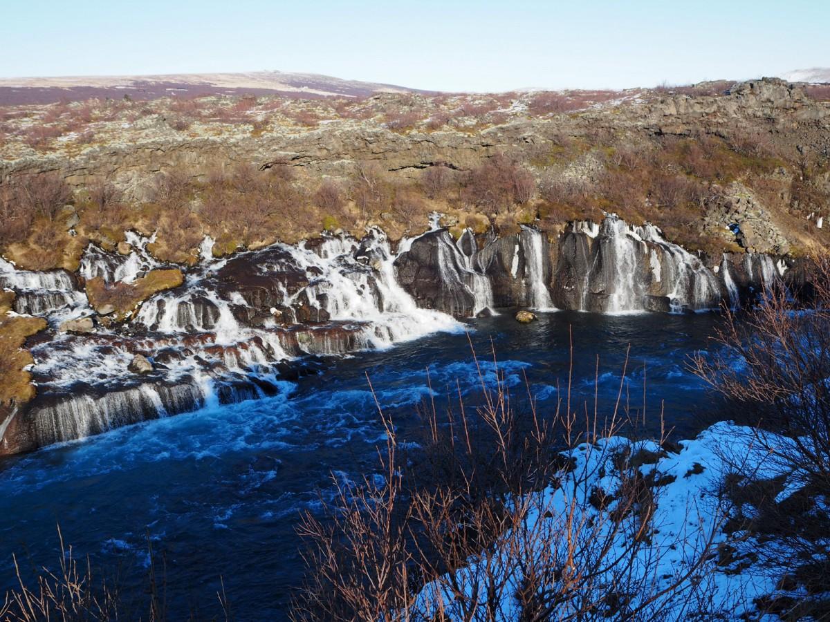 Zdjęcia: Hraunfossar, zachodnia Islandia, Wodospad lawowy, ISLANDIA