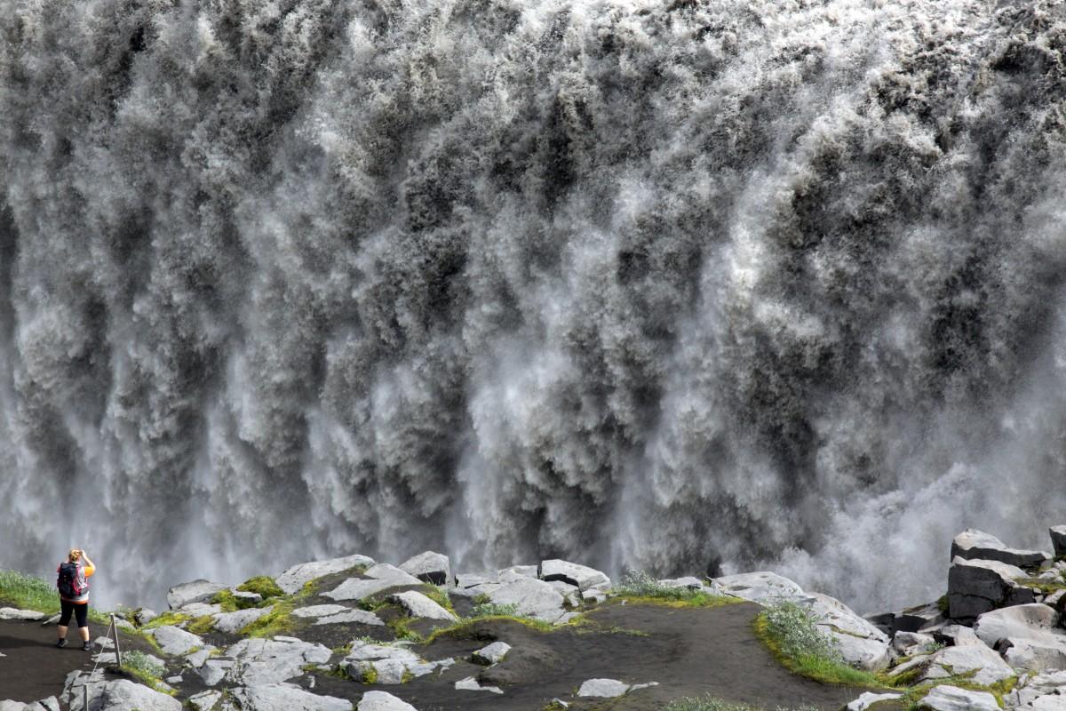 Zdjęcia: Deltifoss, Północny Wschód, Wodospad, ISLANDIA