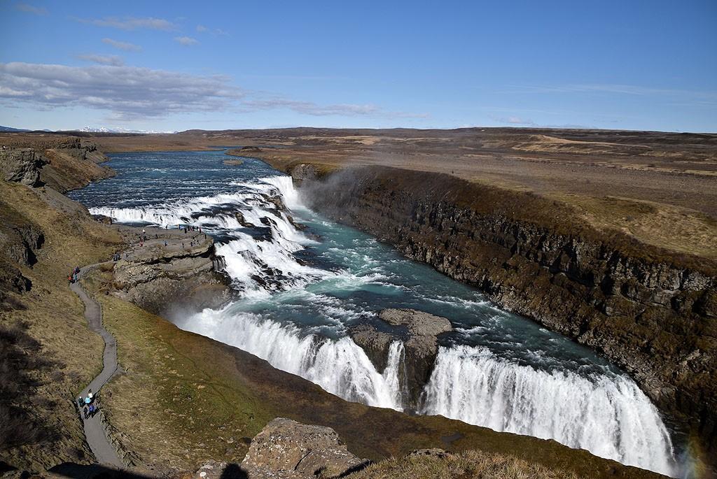 Zdjęcia: Gullfoss, Islandia, Gullfoss, ISLANDIA