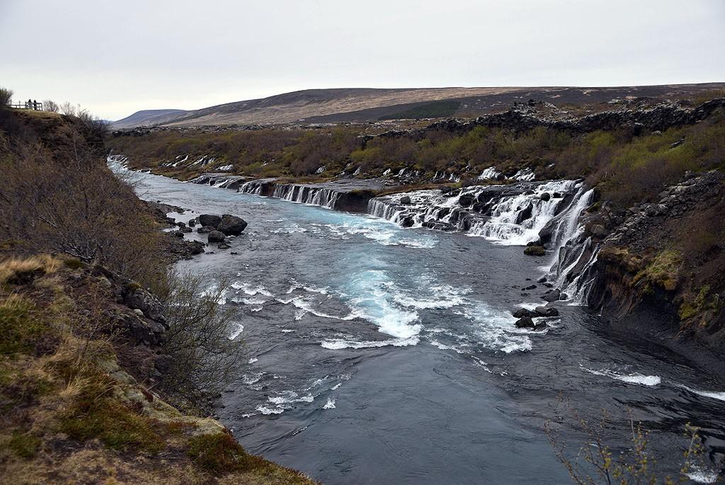 Zdjęcia: Hraunfossar, Islandia Zachodnia, Wodospad Hraunfossar, ISLANDIA