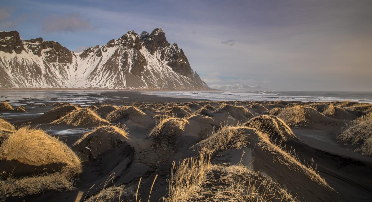 Zdjęcia: Vestrahorn, Islandia południowa, zimowa Islandia, ISLANDIA