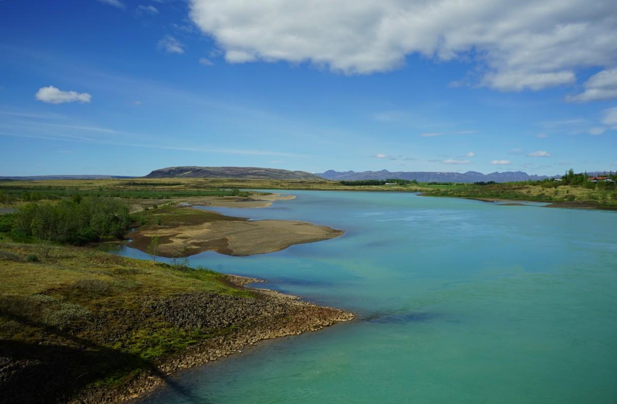 Zdjęcia: ., Hvíta, czyli biała rzeka, Wypływa z lodowca Langjókull, ISLANDIA