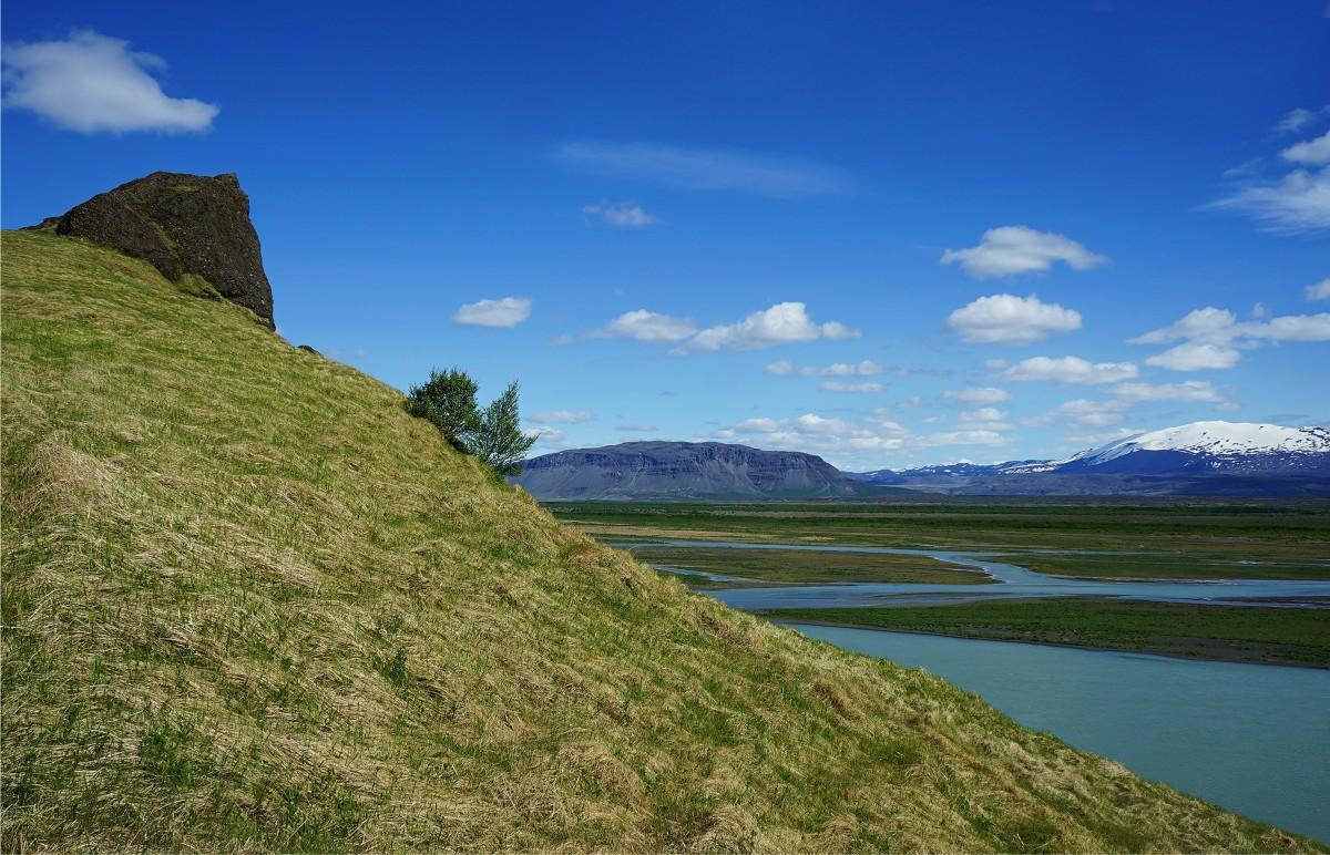 Zdjęcia: .,  Hvíta, czyli biała rzeka, Skała straceń, ISLANDIA