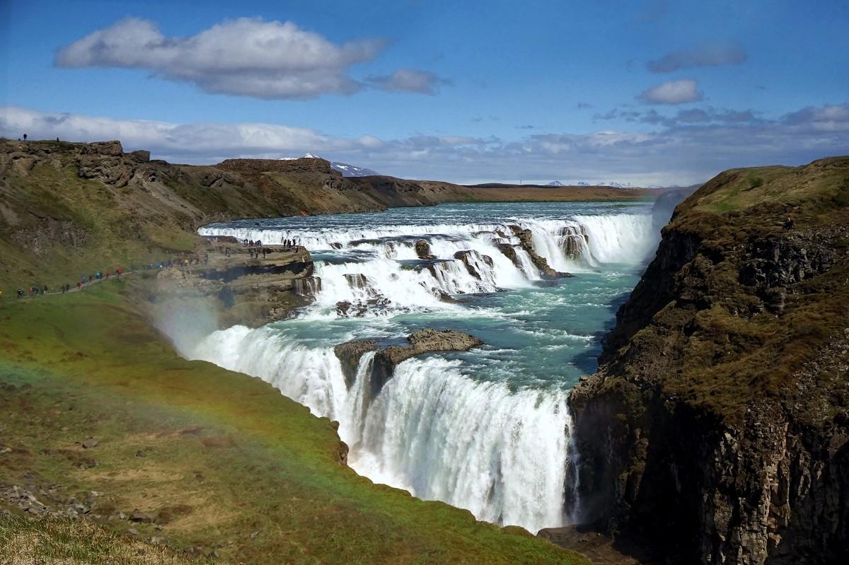 Zdjęcia: Gullfoss , Kanyon na rzece Hvíta, Wodospad wodospadów, ISLANDIA