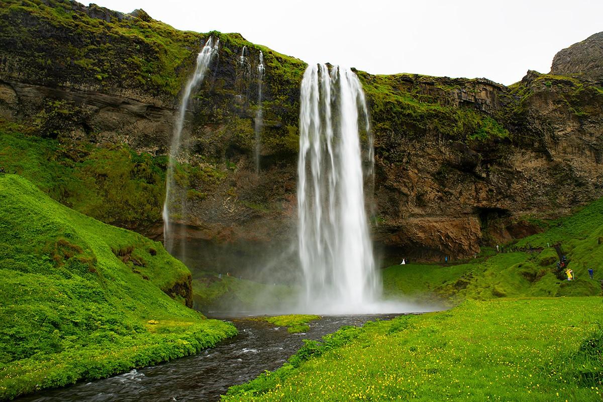 Zdjęcia: Wodospad Seljalandsfoss, Poludnie wyspy, Wodospad Seljalandsfoss, ISLANDIA