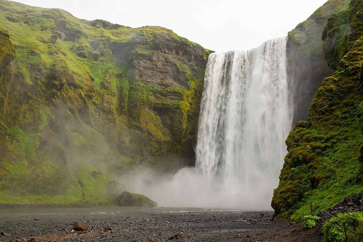 Zdjęcia: Wodospad Skógafoss, Poludnie wyspy, Wodospad Skógafoss, ISLANDIA