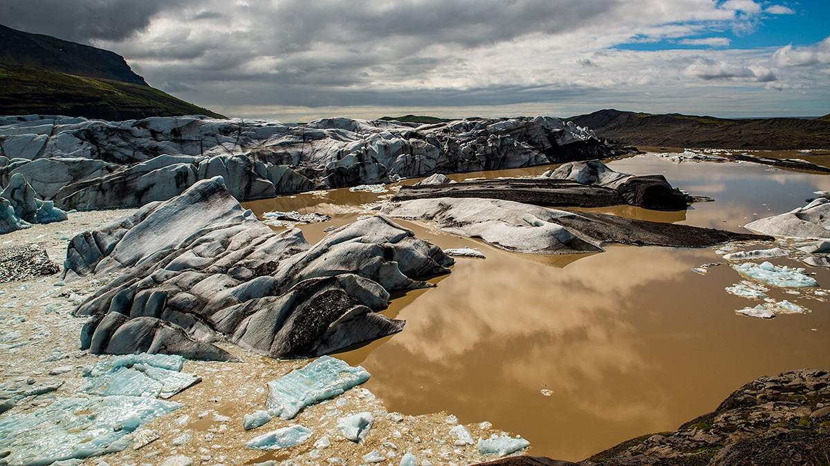 Zdjęcia: Jezioro polodowcowe Fjallsárlón, Poludnie wyspy, Jezioro polodowcowe, ISLANDIA