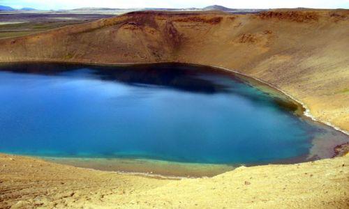 ISLANDIA / polnoc / Kraftla / dolek z wodą