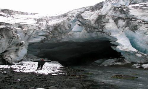 ISLANDIA / interior / na skraju lodowca / Jaskinie Lodowe