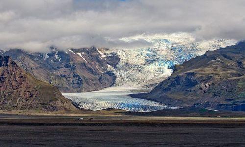 Zdjęcie ISLANDIA / - / Vatnajokull / Svinafelljokull