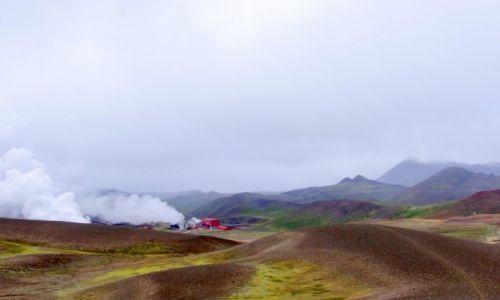 ISLANDIA / niecka pod Kraftlą / pod wulkanem Kraftla / Elektrownia
