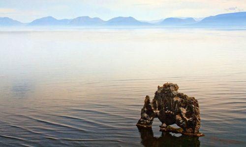 Zdjecie ISLANDIA / Półwysep Vatnsnes / Hvitserkur / Skalny trol