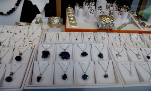 ISLANDIA / Reykiavik / Reykiavik / biżuteria z lawy