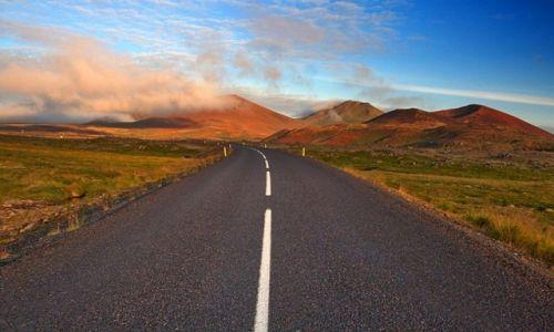 Zdjecie ISLANDIA / Północna Islandia / Berserkjahraun / Droga nr 1