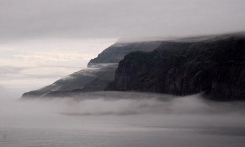 Zdjecie ISLANDIA / Wschodnia część Islandii- Seydisfjordur / Seydisfjordur / W porannej mgle