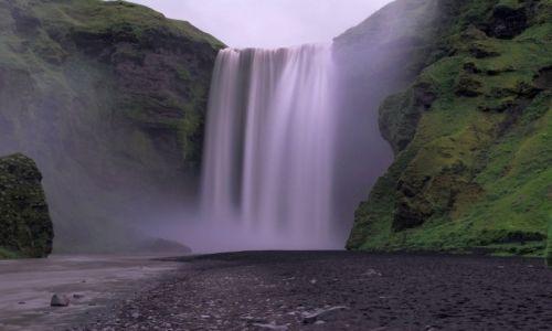 Zdjecie ISLANDIA / Vik / Wodospad Skogafoss / Lanie wody