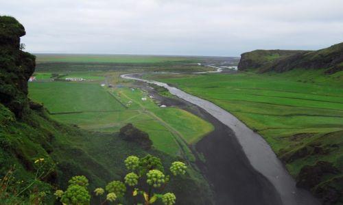 Zdjecie ISLANDIA / Vik / Wodospad Skogafoss / Panorama z Skogafoss