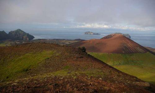 Zdjęcie ISLANDIA / Wyspy Westmanów / Wyspa Heimaey / Widok na wulkan Eldfell