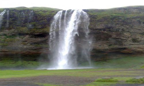 Zdjecie ISLANDIA / Południowa Islandia / Seljalandsfoss / Niesamowity wodospad, którego oblicze można ujrzeć