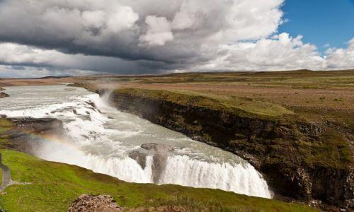 Zdjecie ISLANDIA / Southern Peninsula / Gullfoss / trochę wody