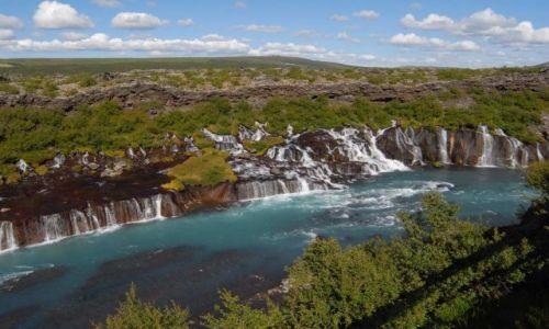 Zdjecie ISLANDIA / Część zachodnia Islandii / Niedaleko Husafell i Reykholt / Nad rzeką Hvitą