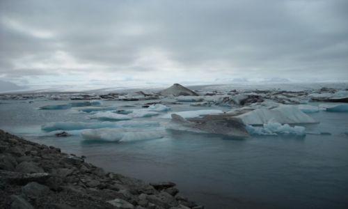 Zdjecie ISLANDIA / Islandia / Islandia / Lodowe jezioro