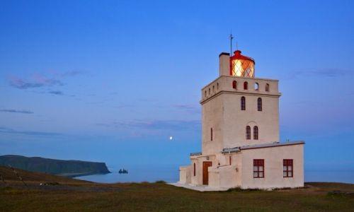 Zdjecie ISLANDIA / Południe Islandii / Dyrholaey / Latarnia w Dyrholaey