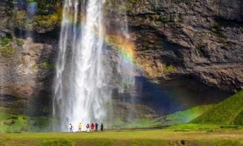 Zdjecie ISLANDIA / Po�udnie Islandii / Seljandsfoss /  Wodospad Selja
