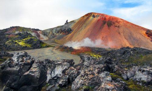 Zdjecie ISLANDIA / Park Narodowy Fjallabaki / Landmannalaugar / Brennisteinsalda - góra tęczowa
