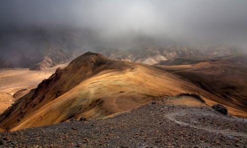 Zdjecie ISLANDIA / Park Narodowy Fjallabaki / Landmannalaugar / Burza pyłowa
