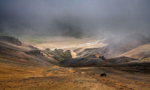 ISLANDIA / Park Narodowy Fjallabaki / Landmannalaugar / Burza pyłowa
