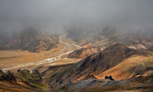 Zdjęcie ISLANDIA / Park Narodowy Fjallabaki / Landmannalaugar / Burza pyłowa