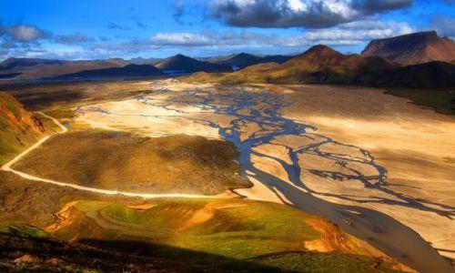 ISLANDIA / Park Narodowy Fjallabaki / Landmannalaugar / Dolina Jökulgilskvísl