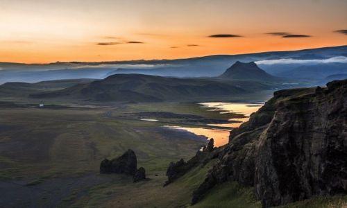 ISLANDIA / Vestur-Skaftafellssysla / Dyrholaey  / Noc w okolicy Dyrholaey