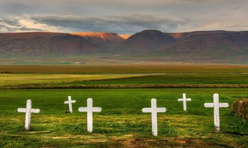 Zdjecie ISLANDIA / Skagafjörður-Sysla / Glaumbær  / Cmentarz w Glaumbær