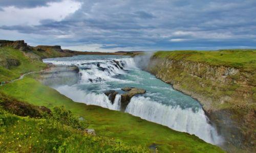 ISLANDIA / - / Gullfoss / Złoty wodospad
