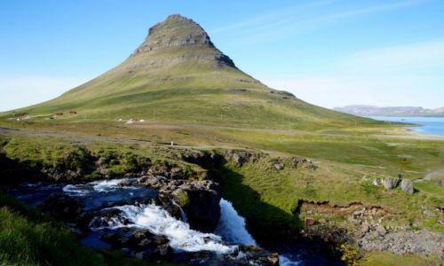 Zdjęcie ISLANDIA / płw Snæfellsnes / Grundarfjörður / góra Kirkjufell i wdospad Kirkjufellsfoss