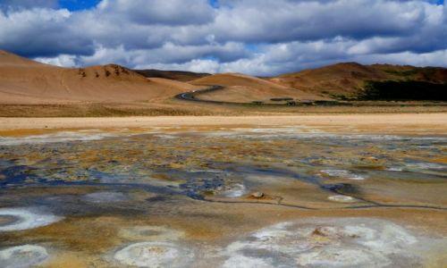 Zdjęcie ISLANDIA / płn-wsch Islandia / Hverarond  / Pole geotermalne