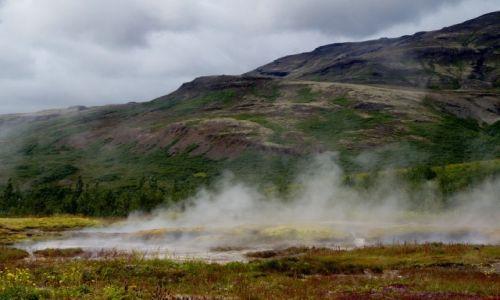 Zdjecie ISLANDIA / zach Islandia / Geysir / Gorące zródła