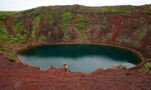 Zdjecie ISLANDIA / zachodnia Islandia / Złoty krąg / wulkan Kerid