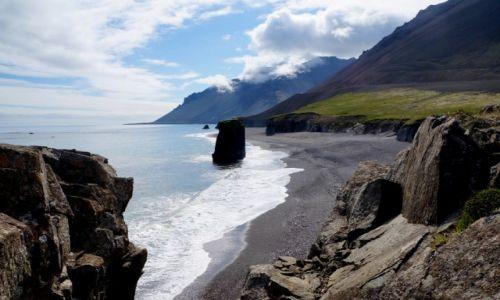 Zdjecie ISLANDIA / wschodnia Islandia / między Djupivogur a Hofn / Czarna plaża