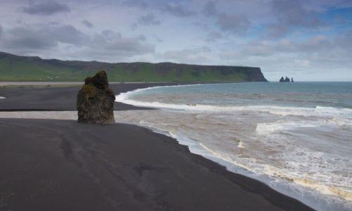 Zdjęcie ISLANDIA / Islandia południowa / Islandia południowa / Czarna plaża