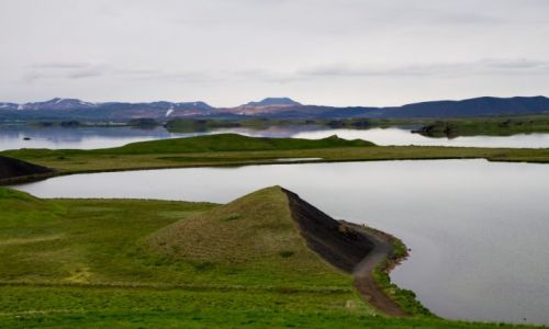 ISLANDIA / islandia p�nocna / okolice jez. Myvatn / Panorama