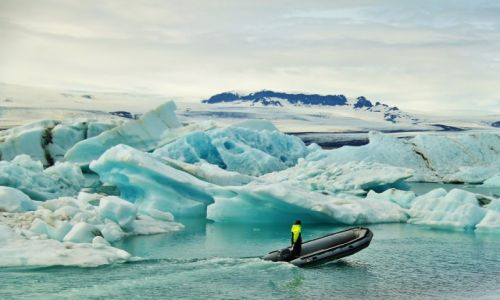 Zdjecie ISLANDIA / Laguna lodowcowa / Jokulsarlon / W�r�d lodu