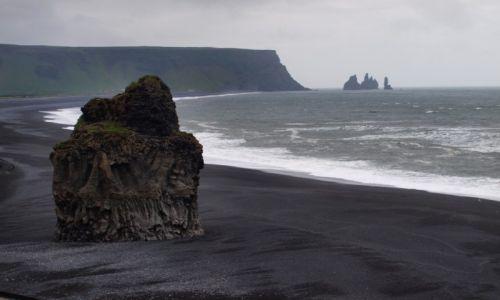 Zdjecie ISLANDIA / Południowa Islandia / Przylądek Dyrholay / czarna plaża